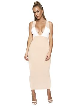 Two Faced Midi Dress by Naked Wardrobe
