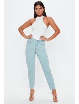 Blue Vintage Riot High Waisted Jeans by Missguided
