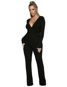 The Ribbed Element Jumpsuit by Naked Wardrobe