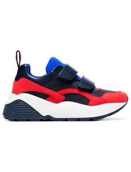 Black, Red And Blue Eclypse 45 Chunky Velcro Sneakers by Stella Mc Cartney