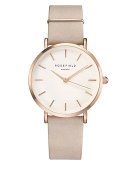 Tribeca Rose Goldtone Leather Strap Wrist Watch by Rosefield