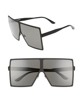 Betty 68mm Metal Shield Sunglasses by Saint Laurent