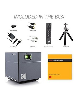 Kodak Pocket Portable Projector Cube Pico 1080 P Hd Dlp Rechargeable Up To 100 Inches Image by Kodak