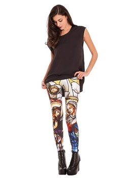 Stained Glass Leggings, Pagan Clothing, Art Leggings, Gothic Leggings, Gothic Clothing, Colorful Leggings, Catholic Gifts, Art Lover Gift by Etsy