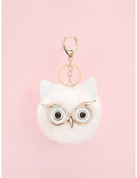 Owl Design Pom Pom Bag Accessory by Sheinside