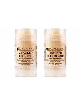 Cracked Heel Repairs Formulated With Fda Natural Ingredients Two 2.4 Oz Bottles by Luxuriant Sparkle Beauty Products
