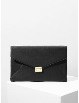 Metal Lock Envelope Clutch Bag by Sheinside