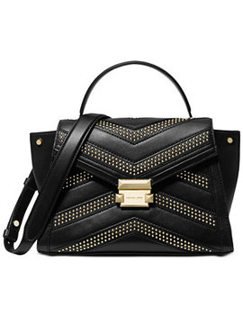 Whitney Studded Top Handle Satchel by Michael Michael Kors