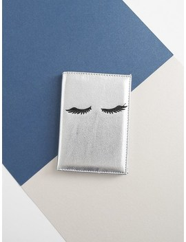 Eyelash Pattern Card Wallet by Sheinside