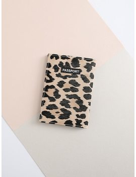 Leopard Pattern Pu Card Wallet by Sheinside