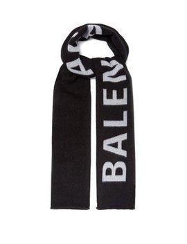 Logo Jacquard Wool Scarf by Balenciaga
