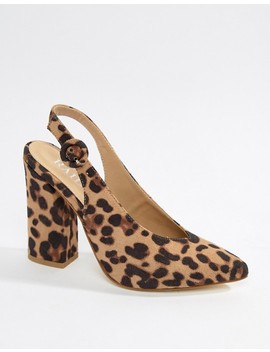 Raid Brook Leopard Print Block Heeled Shoes by Raid