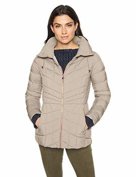 Bernardo Women's Packable Zip Puffer Jacket With Rose Gold Hardware, by Bernardo