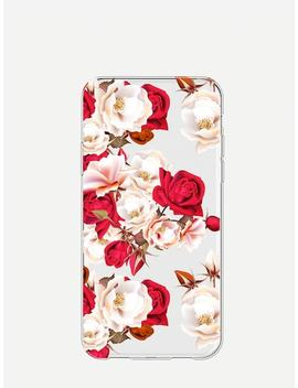 Rose Print I Phone Case by Sheinside
