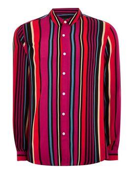 Pink Multi Stripe Slim Shirt by Topman