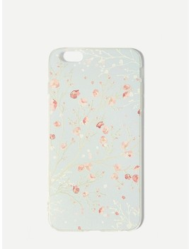 Flower Print I Phone Case by Sheinside