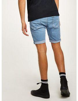 Bleach Stretch Skinny Denim Shorts by Topman