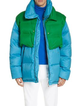 Water Repellent Quilted Puffer Jacket by Calvin Klein 205 W39 Nyc