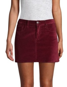 Viper Velvet Mini Skirt by Hudson Jeans