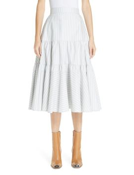 Silk Tiered Prairie Skirt by Calvin Klein 205 W39 Nyc