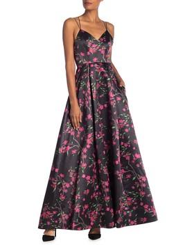 Marilla V Neck Floral Maxi Dress by Alice + Olivia