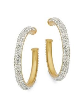 Pave Open Hoop Earrings by Kate Spade New York