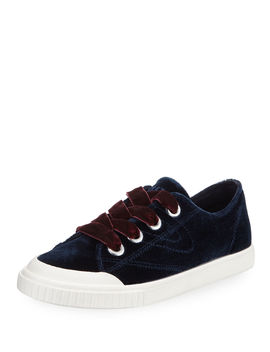 Marley Lace Up Velvet Sneakers by Tretorn