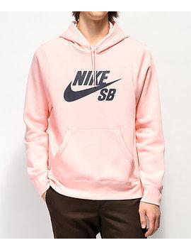 Nike Sb Icon Storm Pink Hoodie by Nike Sb