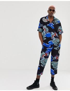 Reclaimed Vintage Inspired – Hemd Mit Drachendesign Auf Der Rückseite by Asos