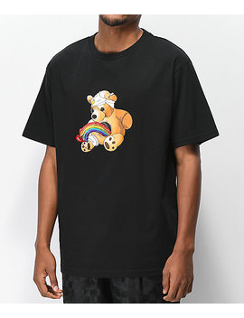Teddy Fresh Colorful Filth Rainbow Black T Shirt by Teddy Fresh