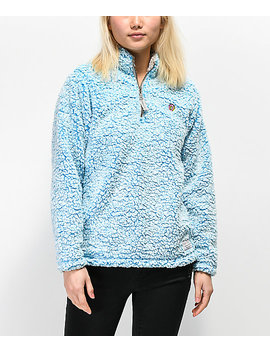 Odd Future Ombre Blue Sherpa Fleece Jacket by Odd Future