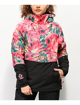 O'neill Pw Frozen Wave Tie Dye Anorak Snowboard Jacket by O'neill