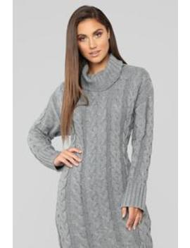 Can't Be Without You Sweater Dress   Grey by Fashion Nova