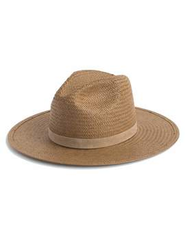 Adriana Packable Straw Panama Hat by Neiman Marcus