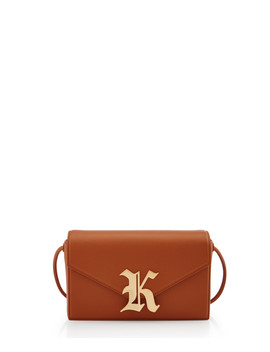 Gothic Camel Leather Clutch Bag by Christopher Kane                                      Sold Out