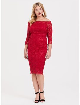 Special Occasion Red Sequin Lace Bodycon Dress by Torrid
