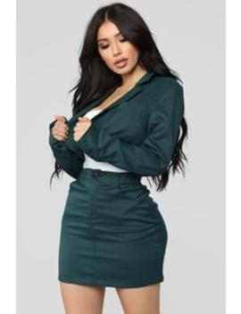 Refined Chick Set   Green/Black by Fashion Nova