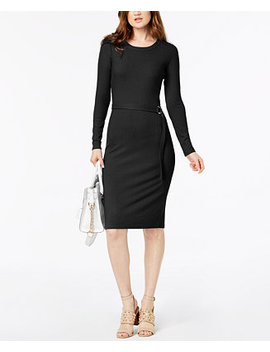 Ribbed Belted Dress by Michael Michael Kors