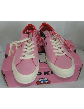 Converse Hello Kitty One Star Pink Suede Low Top Ladies 6.5 Christmas Gift Nib by Converse, Sanrio