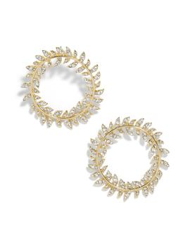 Leaf Round Hoop Earrings by Baublebar