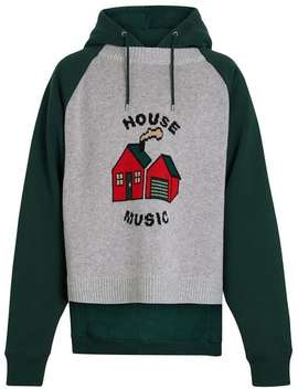 House Music Intarsia Jersey Hoodie by Burberry