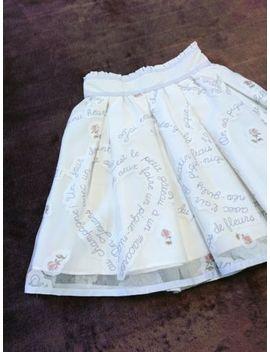 Liz Lisa Skirt Japan M White Sheer Tulle Heart Message Hime Lolita 109 Fashion by Liz Lisa