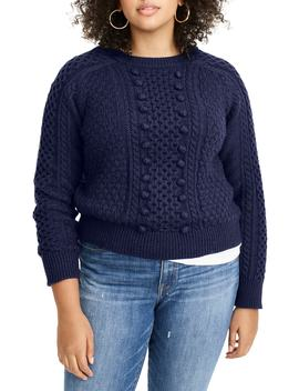 Popcorn Cable Knit Sweater by J.Crew