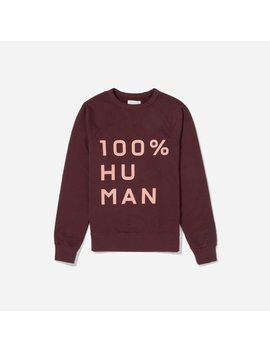 The 100% Human Woman Unisex French Terry Sweatshirt In Large Print by Everlane