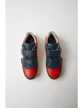 Branded Velcro Sneakers Red/Navy by Acne Studios
