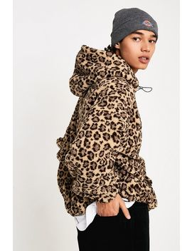 Urban Outfitters – Hoodie Aus Fleece Mit Leoprint by Urban Outfitters Shoppen