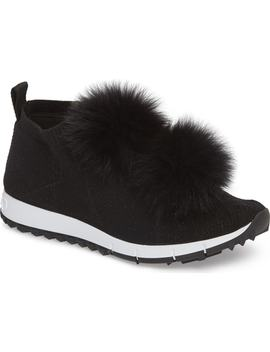 Genuine Fox Fur Sock Sneaker by Jimmy Choo