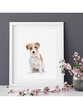 Custom Pet Portrait Watercolour Art Print From Original Watercolor Painting, Custom Dog Portrait Dog Print, Memorial Art Custom Gift For Her by Etsy