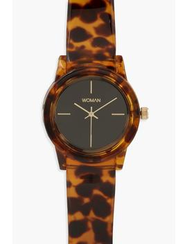 Tortoiseshell Effect Strap Watch by Boohoo