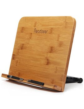 Reodoeer Bam Boo Reading Rest Cook Book Document Stand Holder Bookrest by Moodaeer
